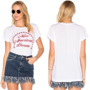 Wildfox Miss American Dream White Graphic T NWT